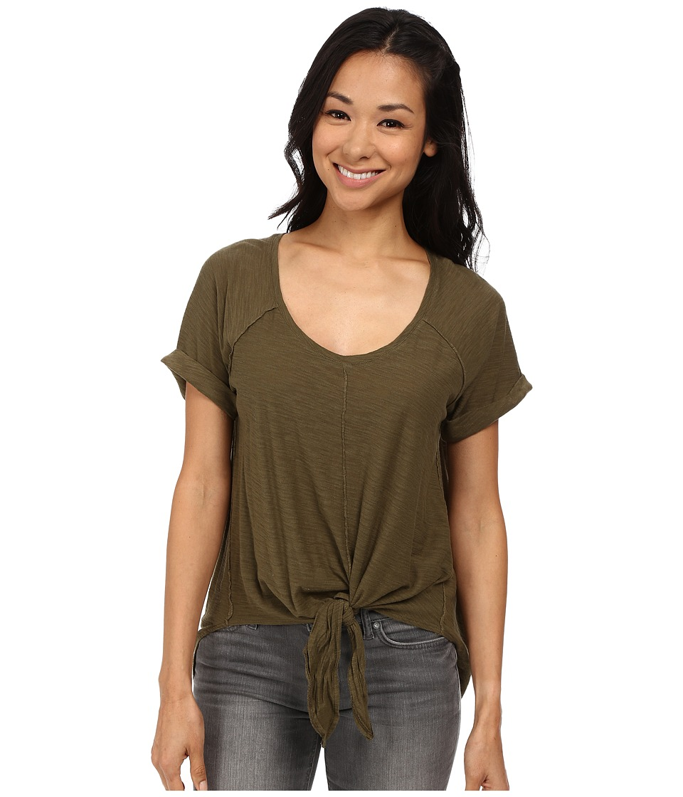 Roxy - Middle Ranch Knit Top (Military Olive) Women's T Shirt
