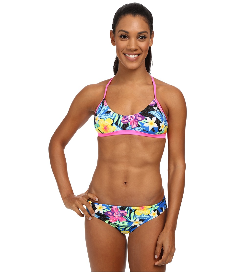 TYR - Amazonia Crosscutfit Tie Back (Black/Multi) Women's Swimwear Sets
