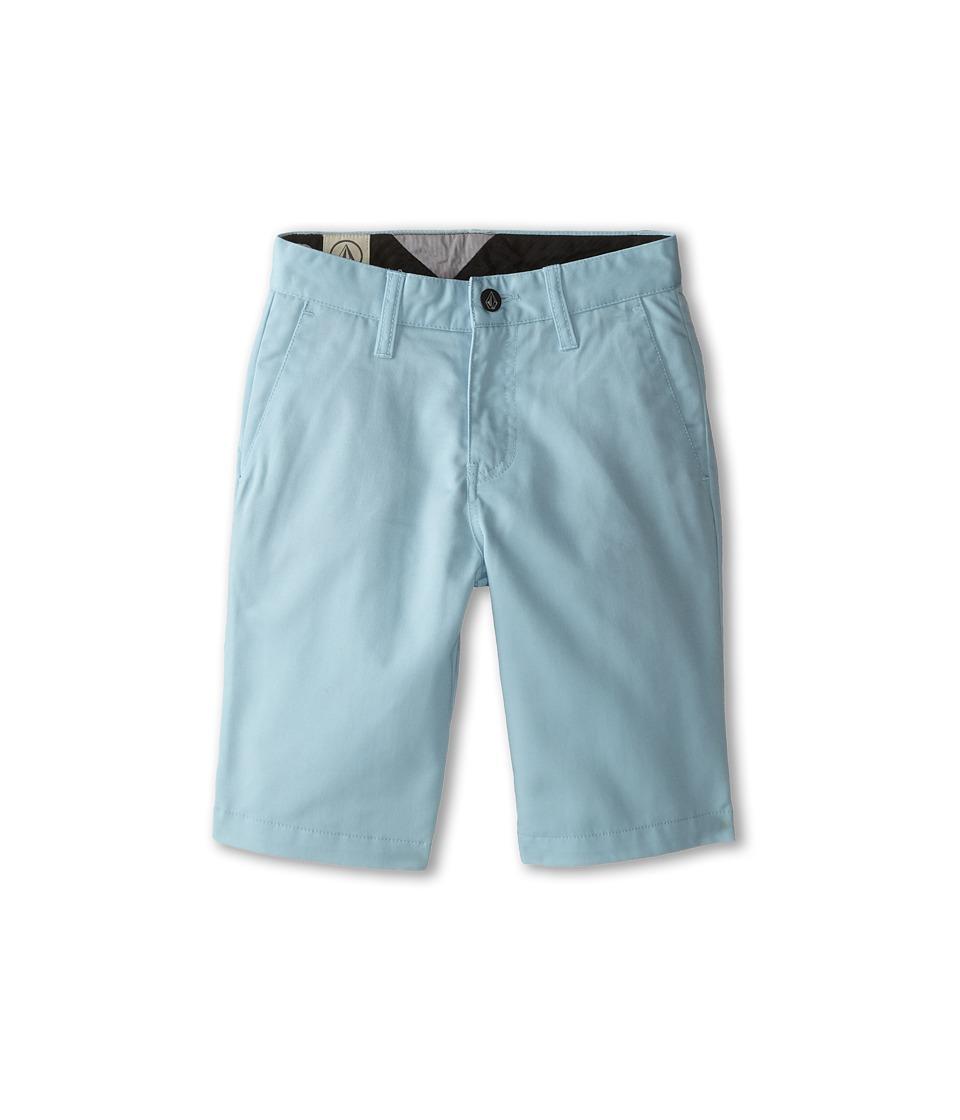 Volcom Kids - Frickin Chino Short (Big Kids) (Cool Blue) Boy