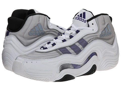 adidas - Crazy 2 (White/Power Purple/Black) Men's Shoes