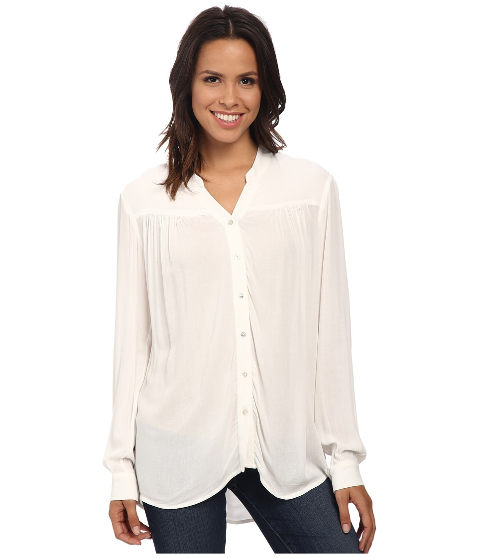 Bobeau - Blouse w/ Shirred Yoke (Natural) Women's Blouse