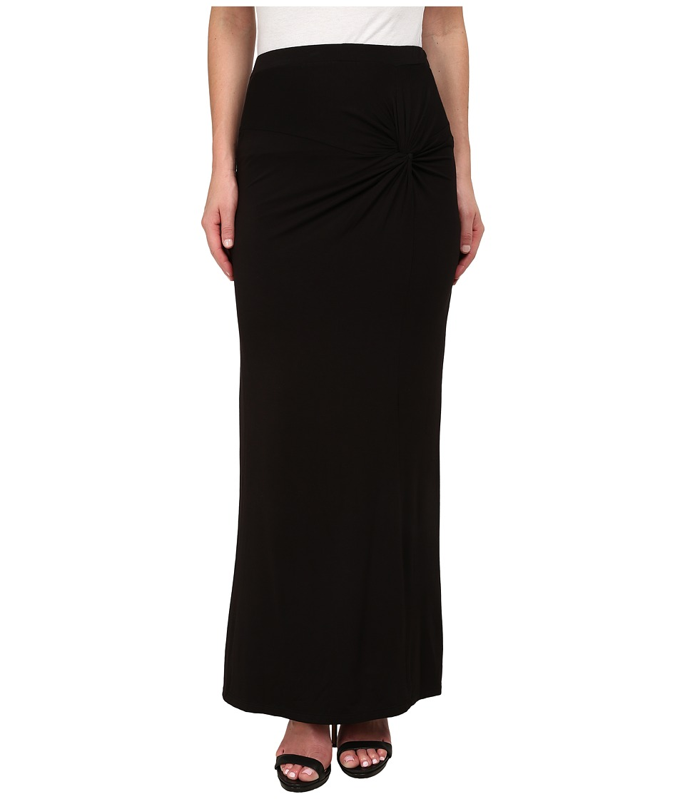 Bobeau - Side Knot Maxi Skirt (Black) Women