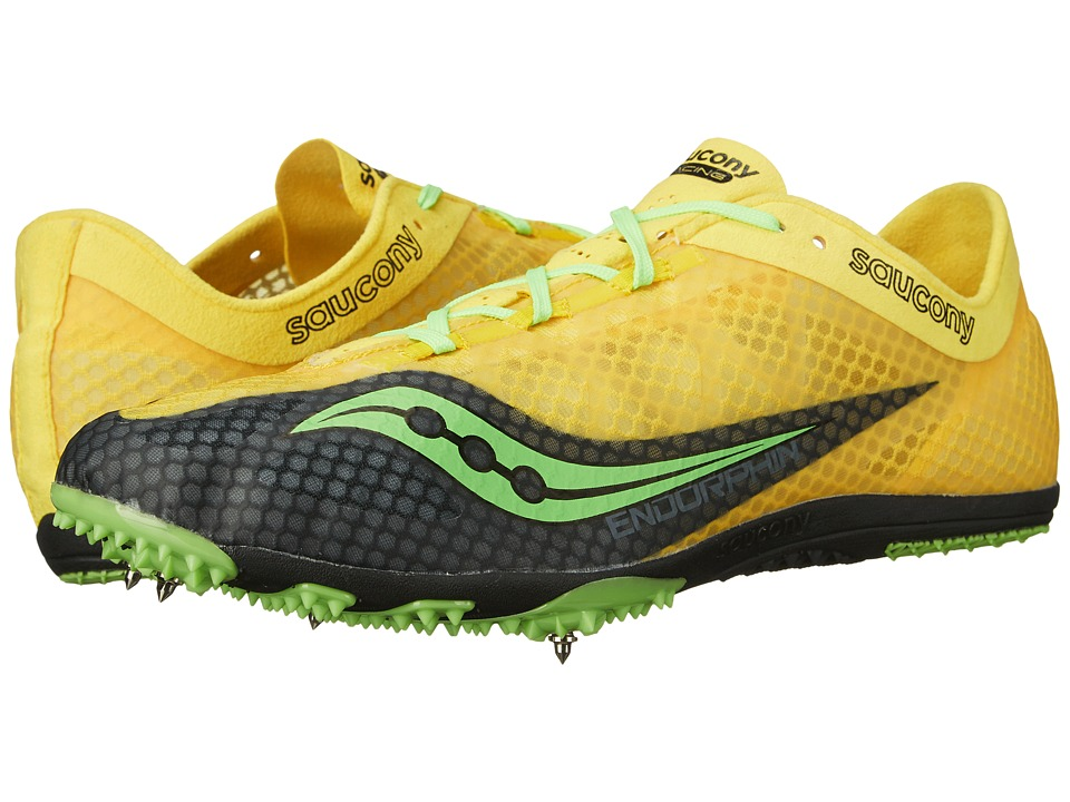 Saucony - Endorphin (Yellow/Black/Slime) Men's Running Shoes