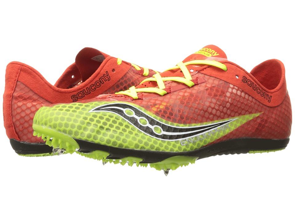 Saucony - Endorphin (Red/Black/Citron) Men's Running Shoes