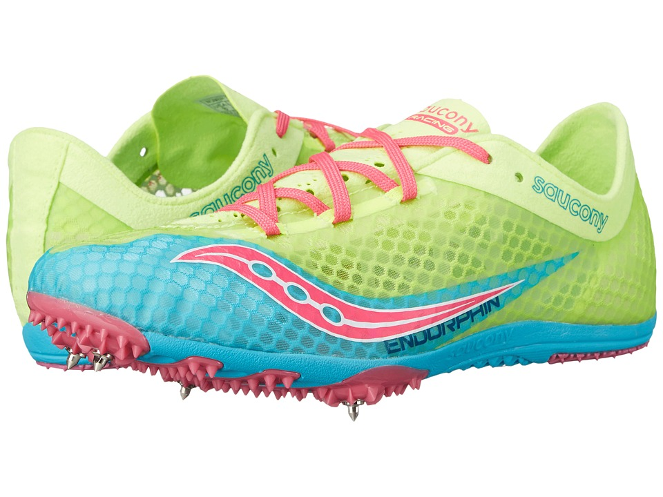 Saucony - Endorphin (Blue/Citron/Pink) Women's Running Shoes