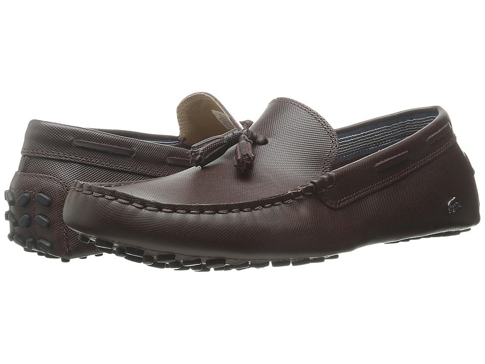 Lacoste - Concours Tassle 8 (Dark Brown) Men's Slip on Shoes