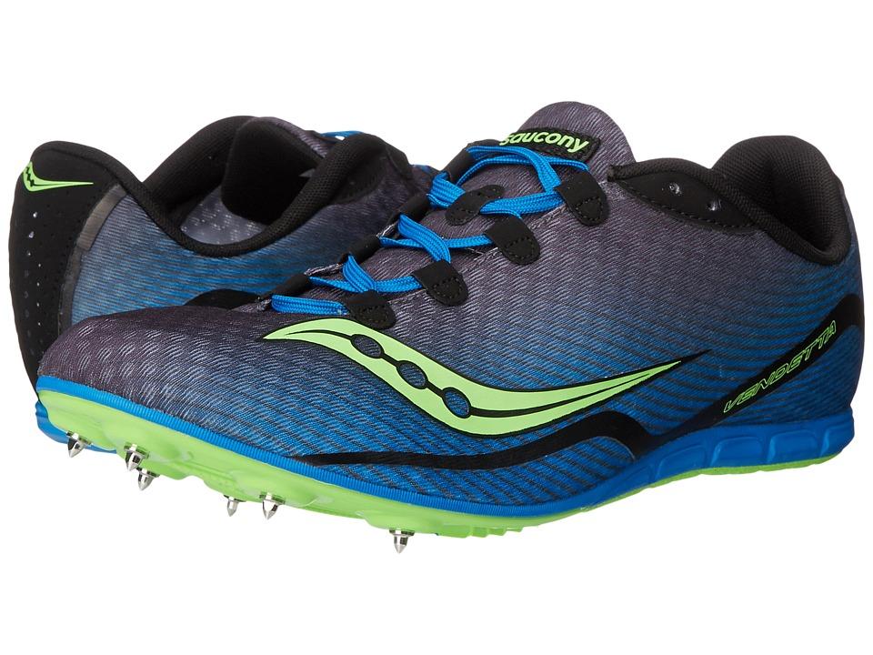 Saucony - Vendetta (Grey/Blue/Slime) Men's Running Shoes