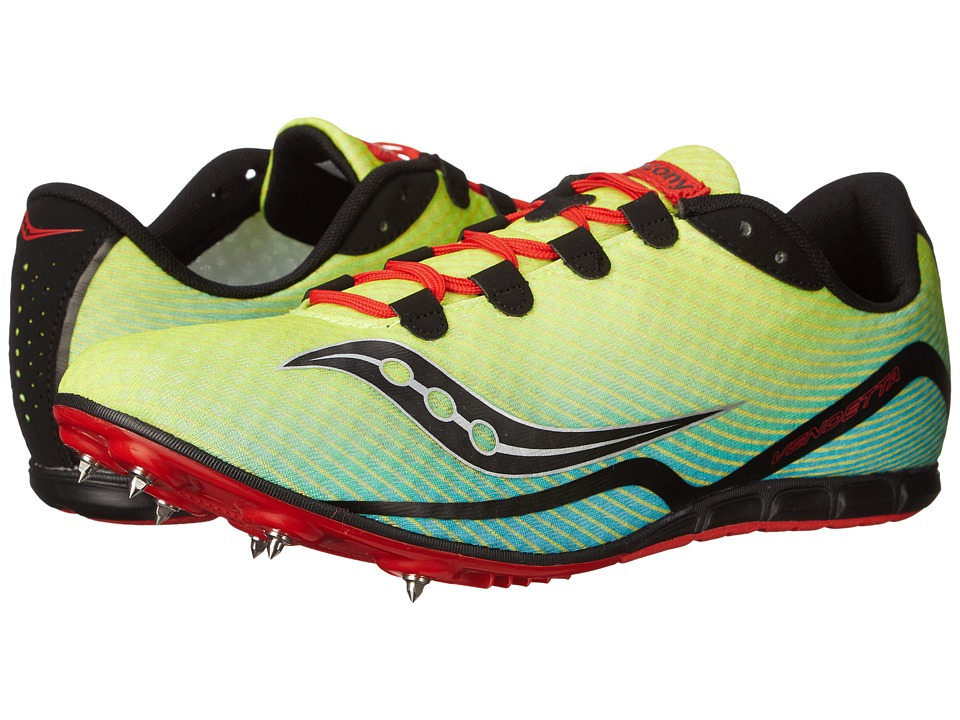 Saucony - Vendetta (Citron/Blue/Red) Men's Running Shoes