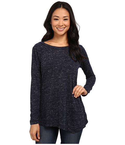 Bobeau - One Pocket Asymmetric T-Shirt (Navy) Women