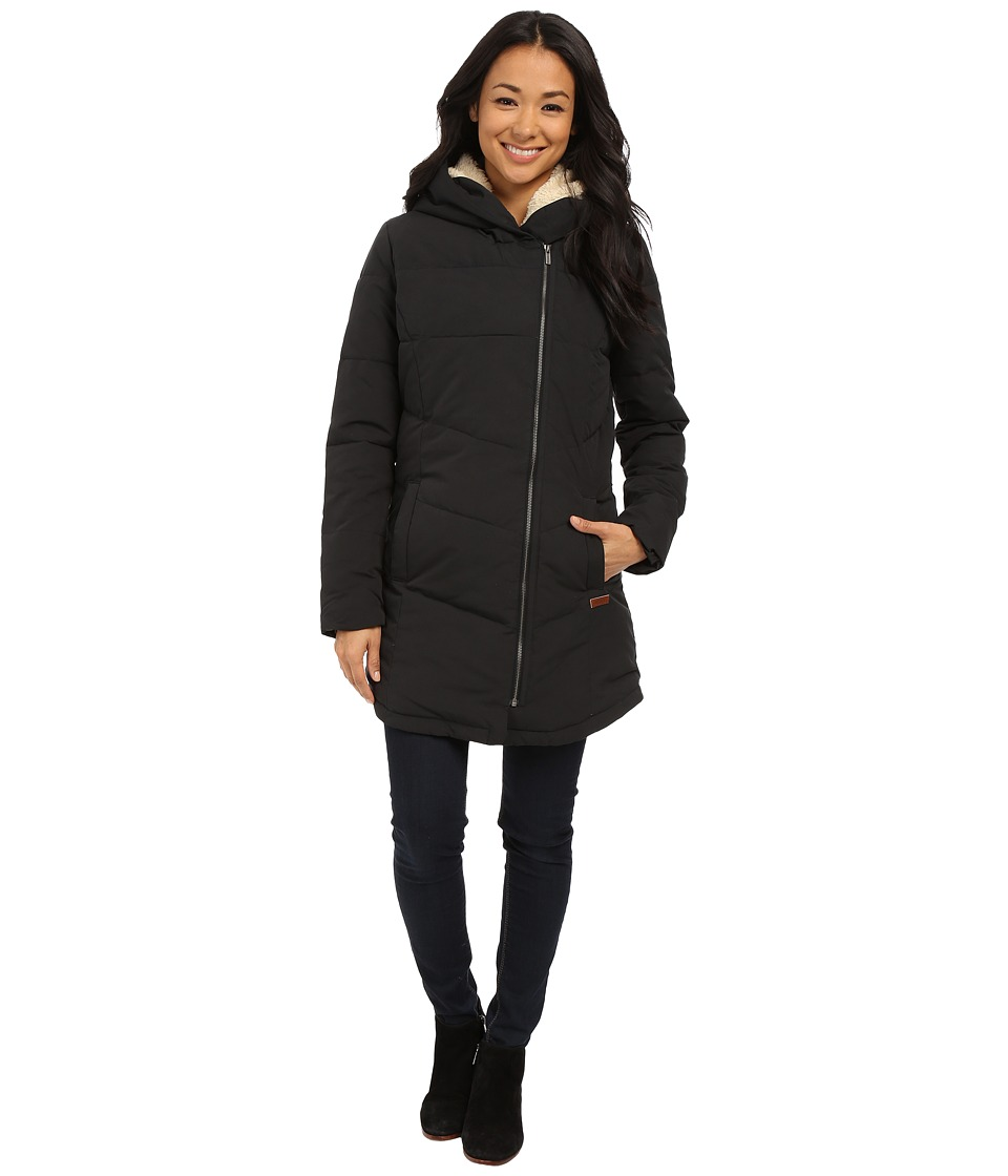 Roxy - Night Out Hooded Coat (True Black) Women's Coat