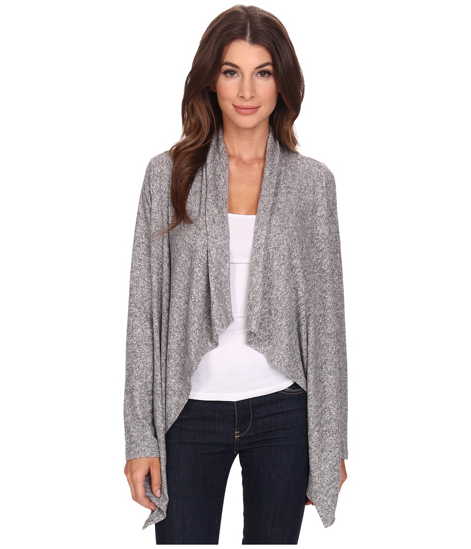 Bobeau - Sweater Cardigan (Heather Grey) Women's Sweater