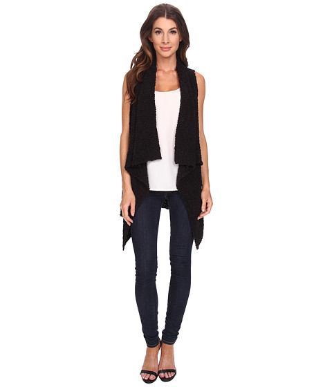 Bobeau - Waterfall Sweater Vest (Black) Women's Sweater