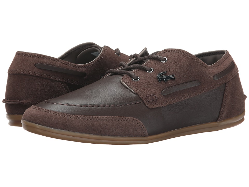 Lacoste - Misano Boat 6 (Dark Brown) Men's Shoes