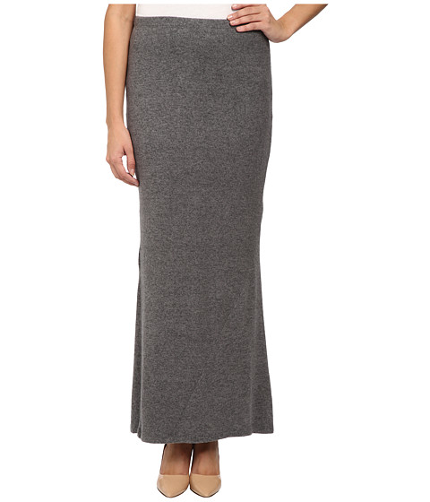 Bobeau - Sweater Maxi Skirt (Heather Grey) Women