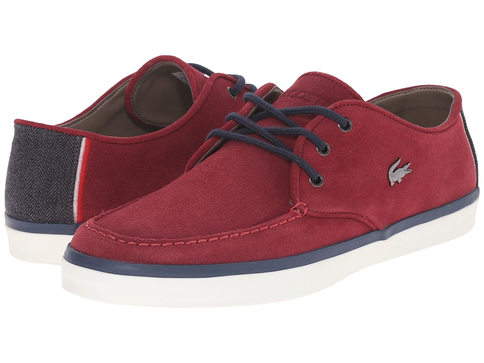 Lacoste - Sevrin 10 (Burgundy) Men's Shoes