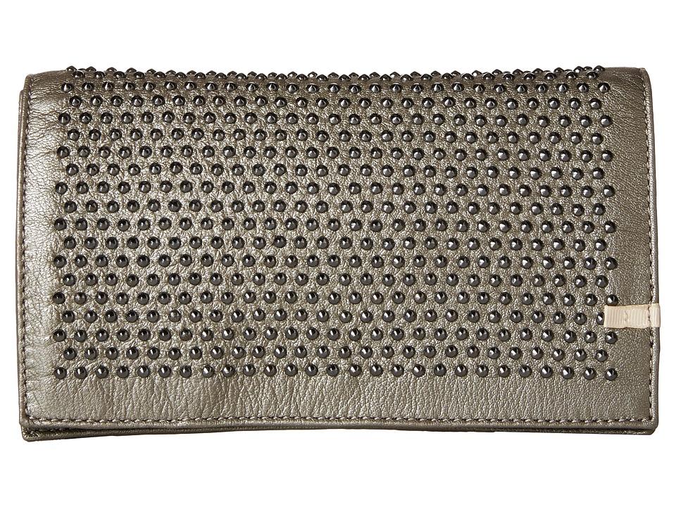 SJP by Sarah Jessica Parker - Jones (Silver Metallic Leather) Clutch Handbags