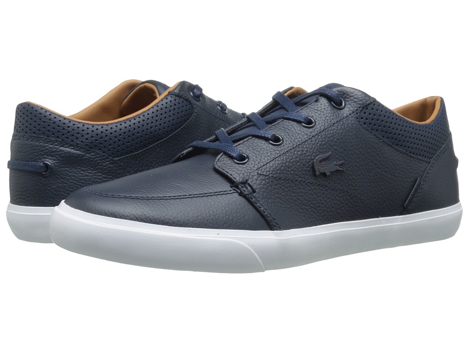 Lacoste - Bayliss Vulc Prm (Dark Blue/Dark Blue) Men's Shoes