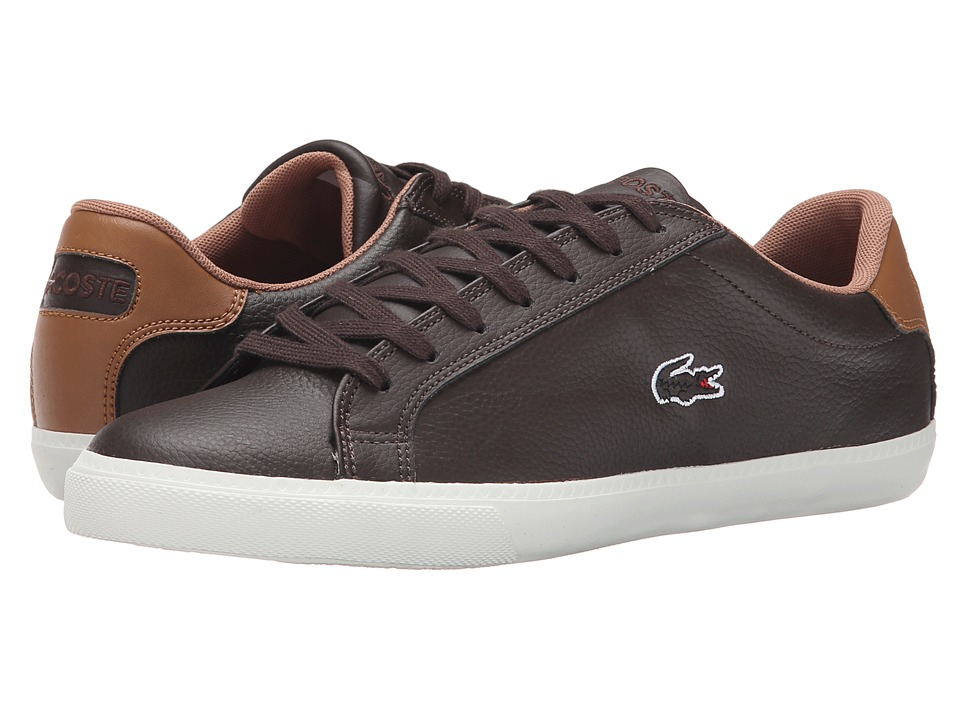 Lacoste - Grad Vulc Prm2 (Dark Brown/Dark Brown) Men's Shoes