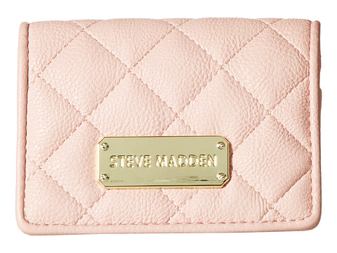 Steve Madden - Quilted Flap Over Card Case (Blush) Credit card Wallet