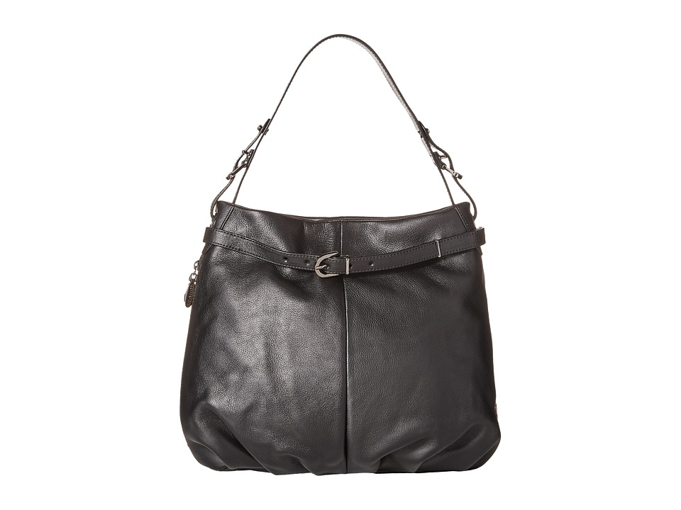 SJP by Sarah Jessica Parker - Sullivan (Black Leather) Shoulder Handbags