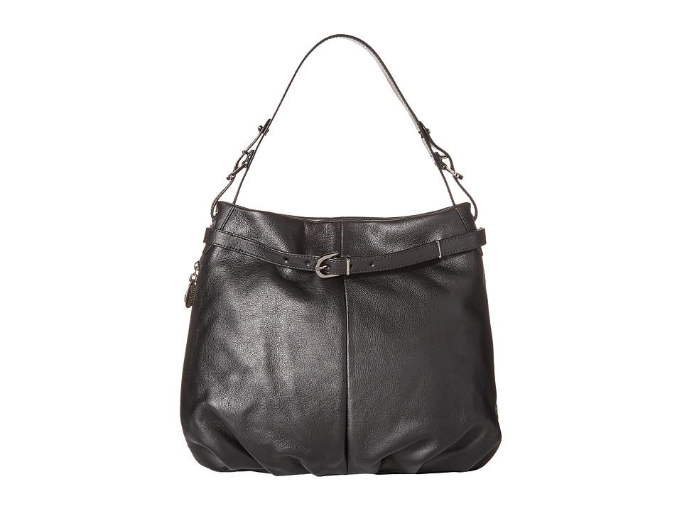 SJP by Sarah Jessica Parker - Sullivan (Black Leather) Shoulder Handbags