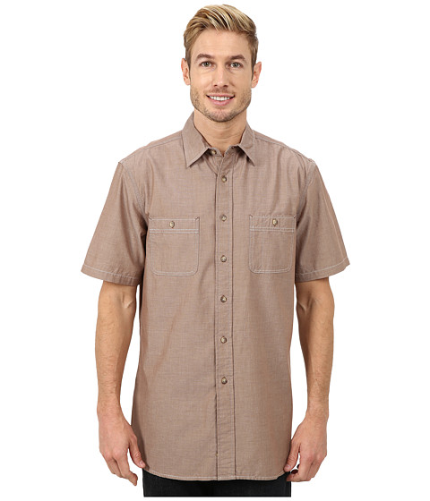 Pendleton - Short Sleeve Berkeley Shirt (Fence Brown) Men's Clothing