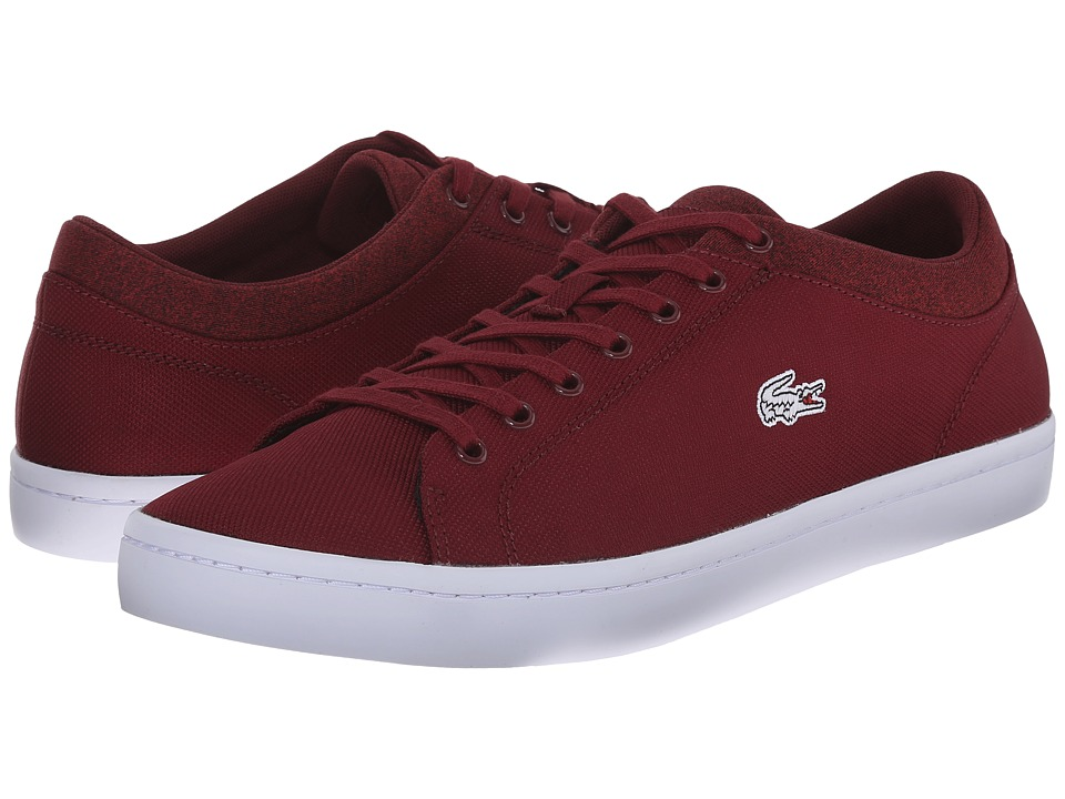 Lacoste - Straightset WMP (Dark Red/Dark Red) Men's Shoes