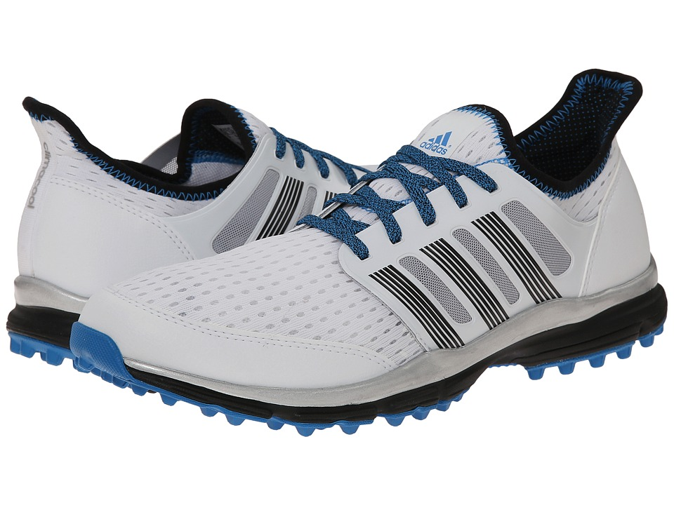 adidas Golf - Climacool (White/Dark Silver/Bright Blue) Men