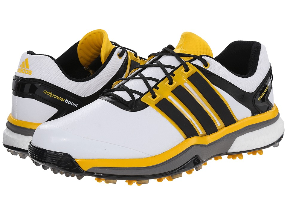 adidas Golf - adiPower Boost (White/Black/Bright Yellow) Men's Golf Shoes