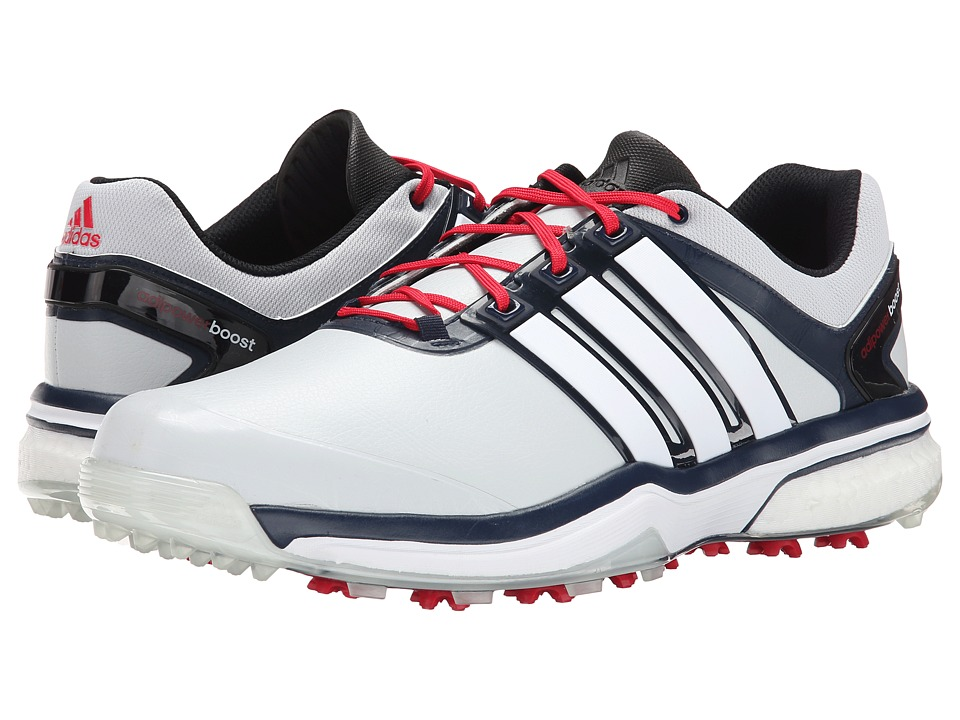 adidas Golf - adiPower Boost (Clear Grey/White/Navy) Men's Golf Shoes