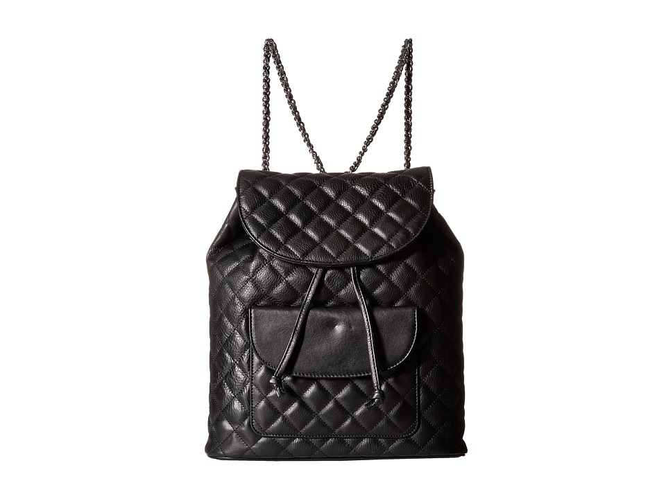 SJP by Sarah Jessica Parker - Clinton (Black Leather) Backpack Bags