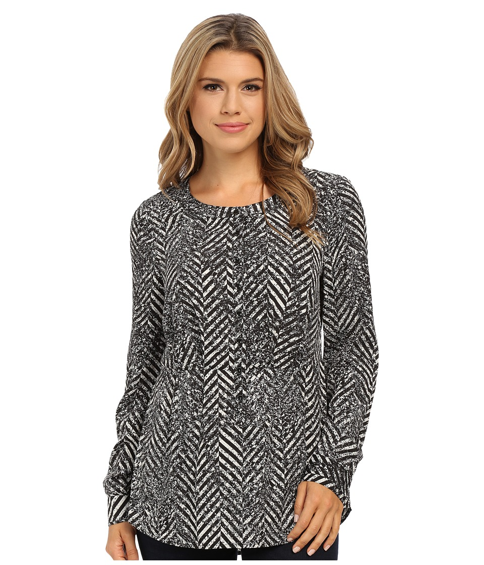 kensie - Speckled Chevron Top KSNK4478 (Pearl Combo) Women's Clothing