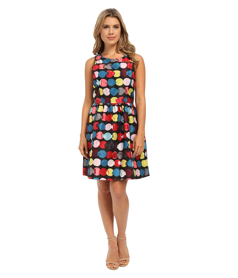 kensie Painted Dots Dress KSNK7747 (Garnet Multi) Women