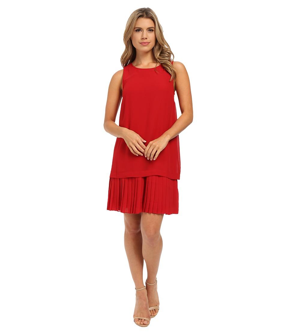 kensie Crepe Chiffon Dress KSNK7749 (Garnet) Women