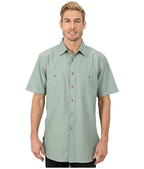 Pendleton - Short Sleeve Berkeley Shirt (Spearmint) Men's Clothing