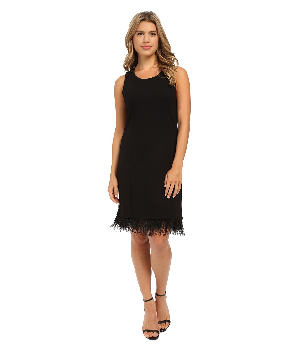 kensie Ponte Dress KSNK7819 (Black) Women