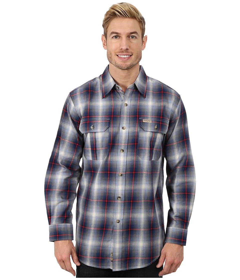 Pendleton - Pioneer Shirt (Blue/Tan Ombre) Men's Clothing