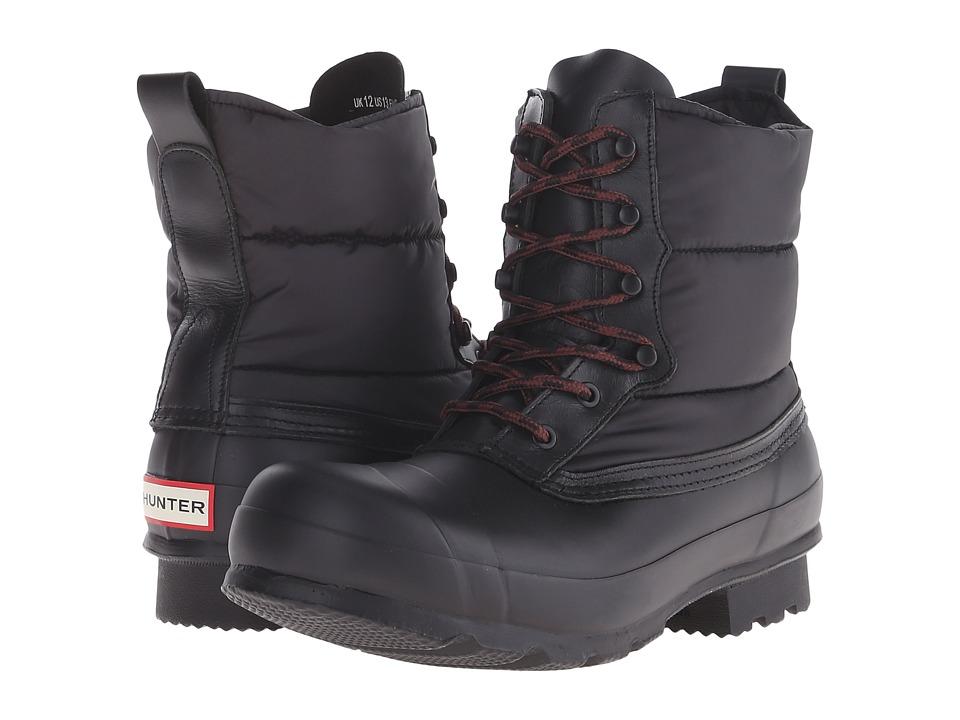 Hunter - Original Quilted Lace Up Short (Black) Men's Rain Boots