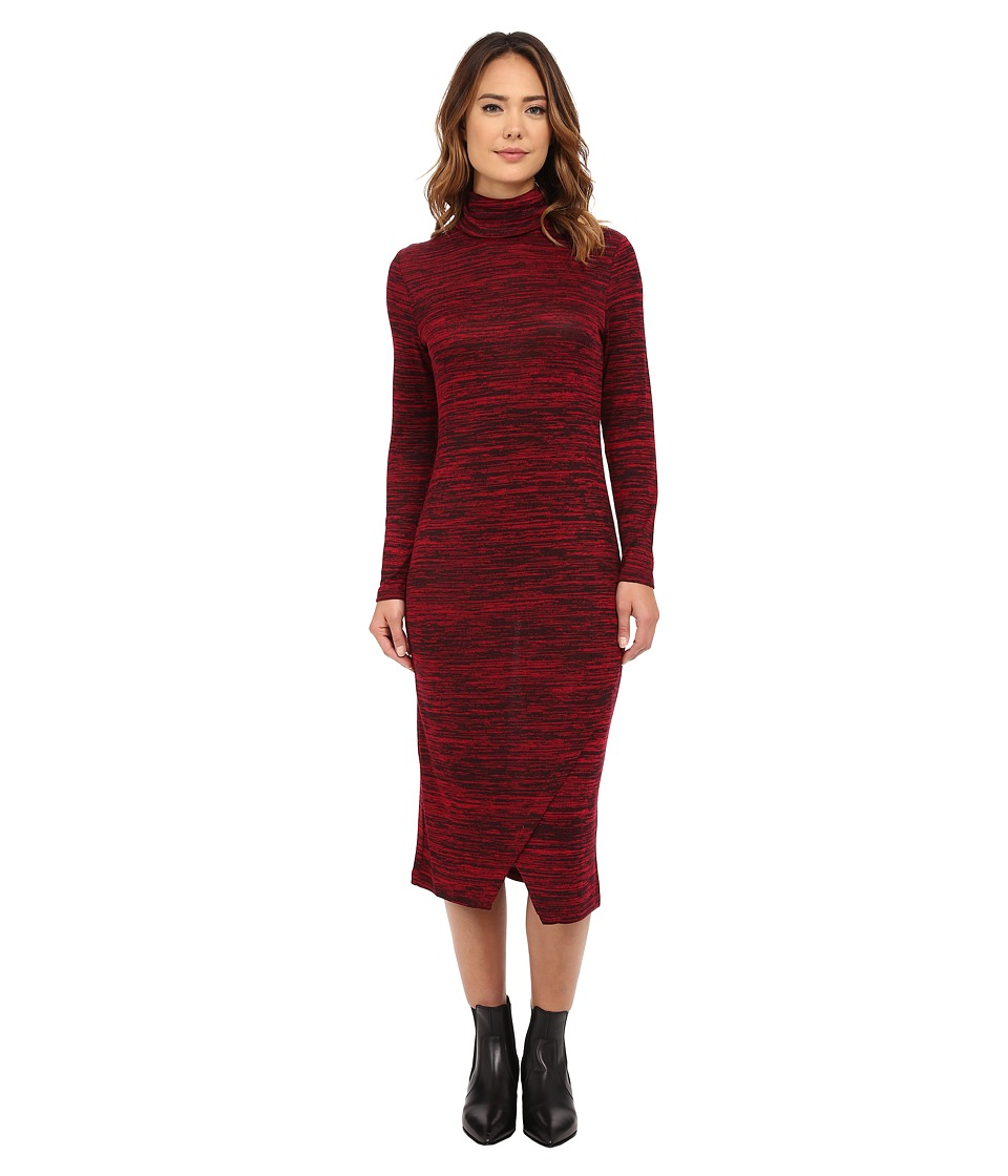 kensie - Drapey Space Dye Dress KSNK7763 (Garnet Multi) Women's Dress