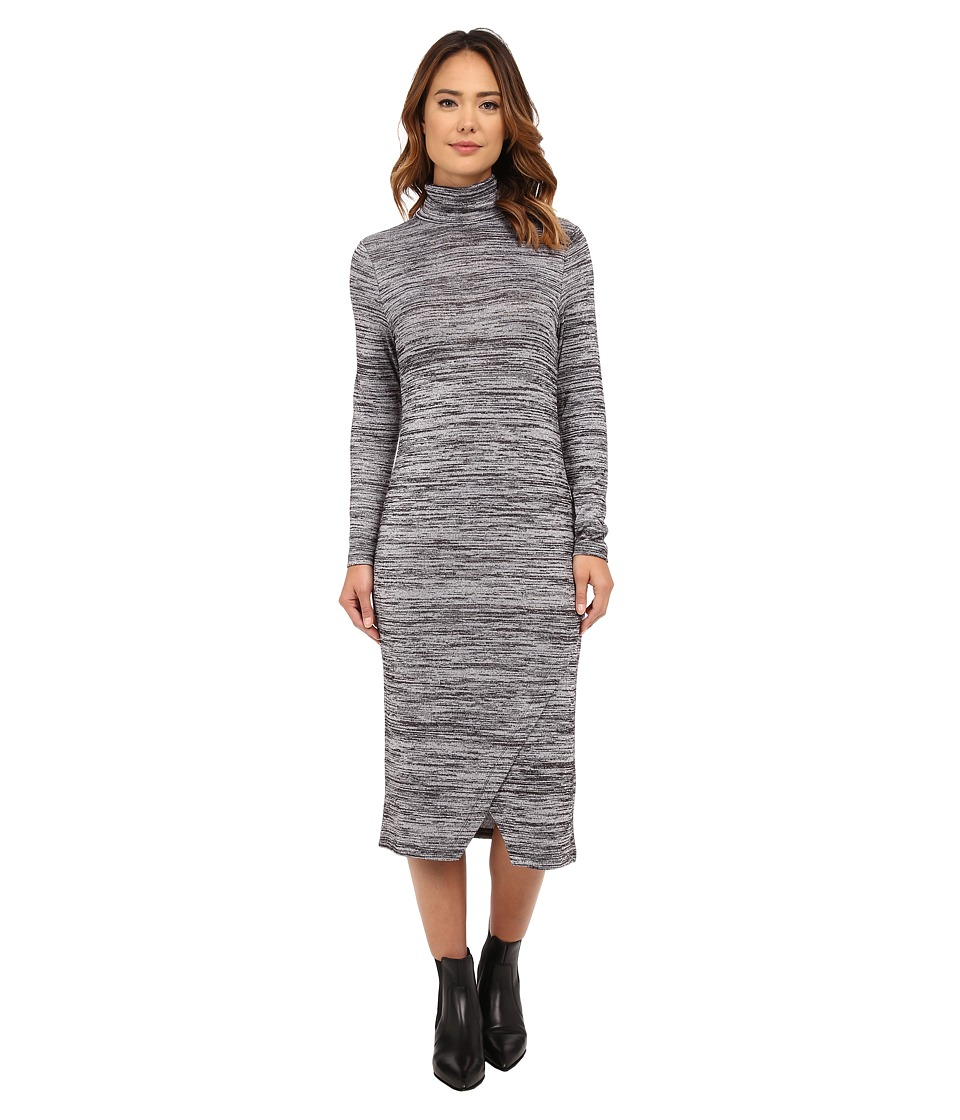 kensie Drapey Space Dye Dress KSNK7763 (Black Combo) Women
