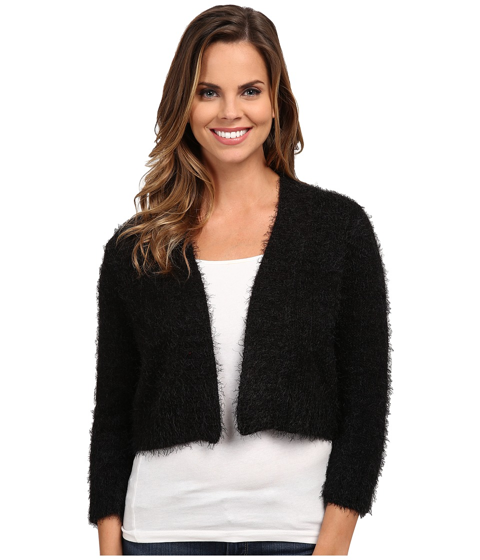 rsvp - Bre Fuzzy Shrug (Black) Women's Sweater