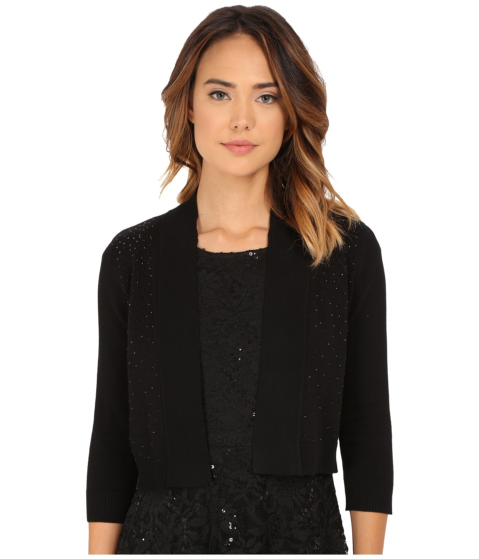rsvp - Bre Shrug with Jet Beads (Black) Women's Sweater