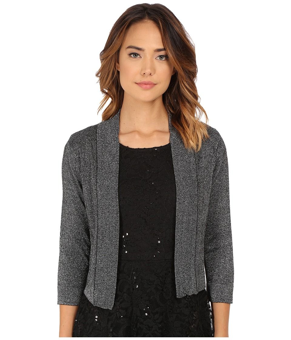 rsvp - Bre Shrug with Lurex (Black/Silver) Women's Sweater
