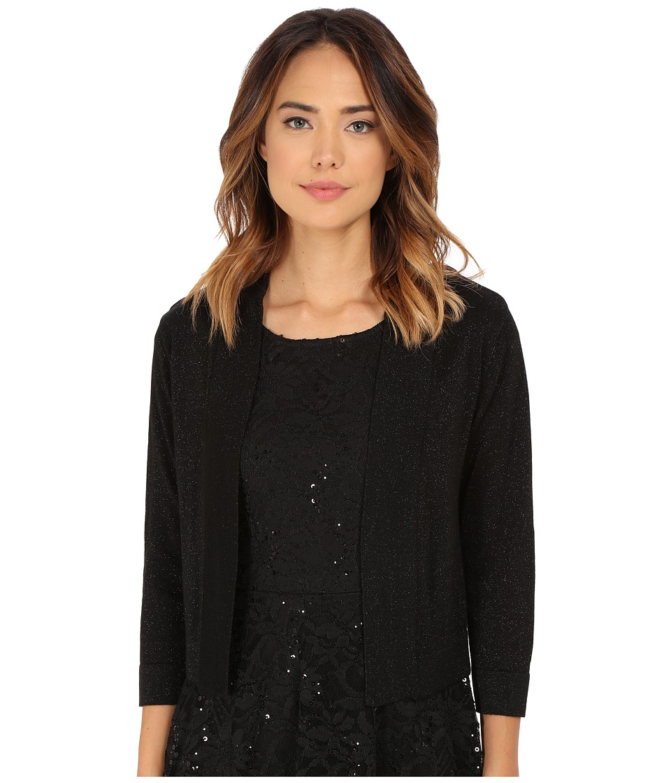 rsvp - Bre Shrug with Lurex (Black/Black) Women's Sweater