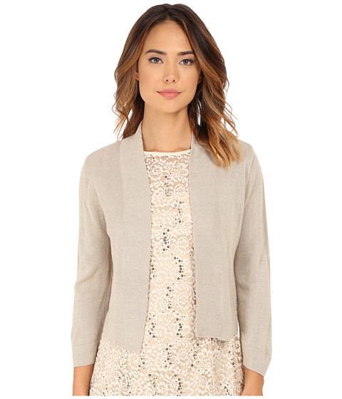 rsvp - Bre Shrug with Lurex (Taupe/Gold) Women's Sweater