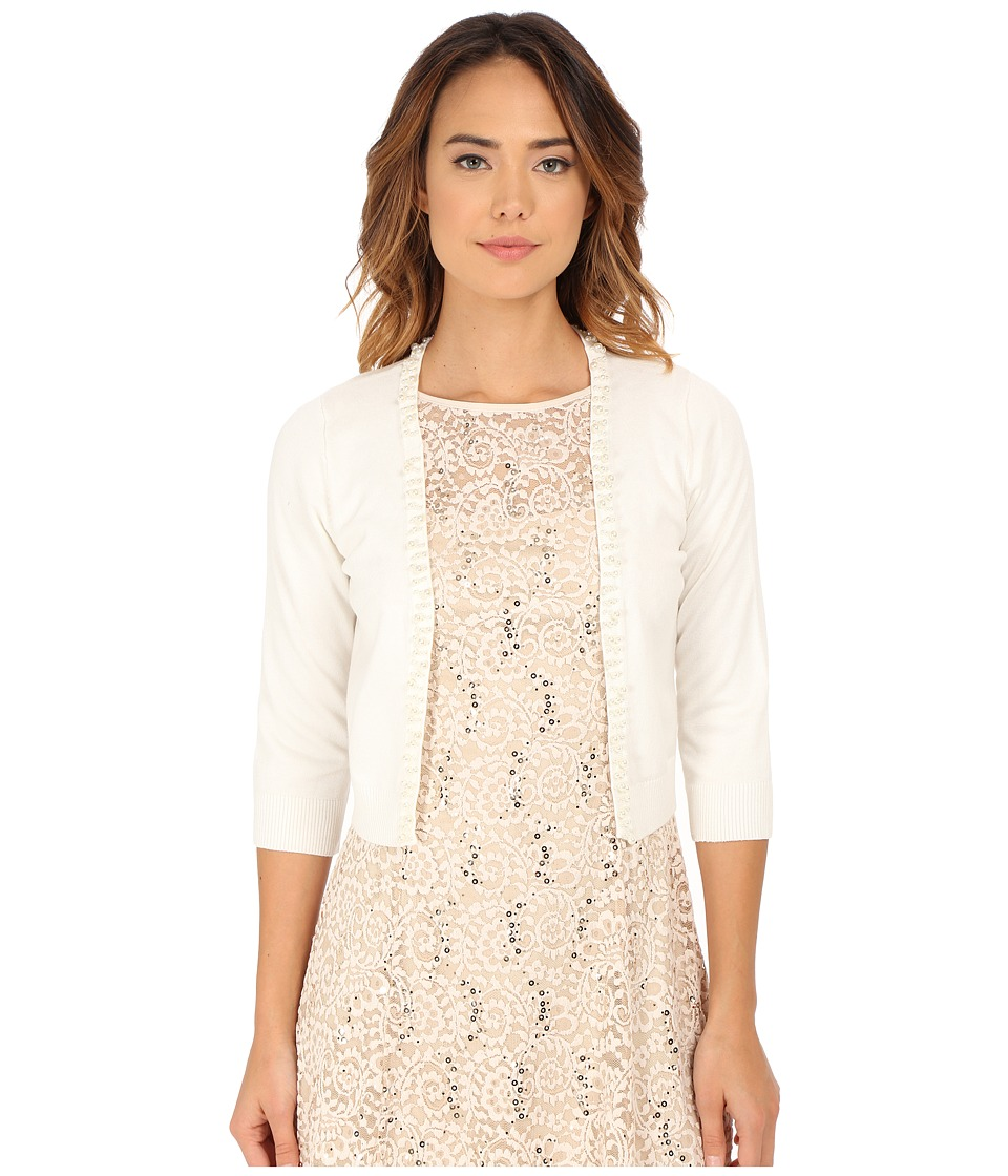 rsvp - Bre Shrug with Pearls (Ivory) Women