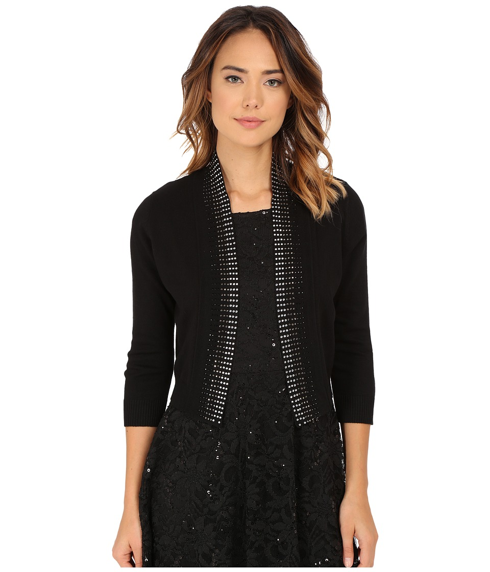 rsvp - Bre Shrug with Stones (Black/Silver) Women's Sweater