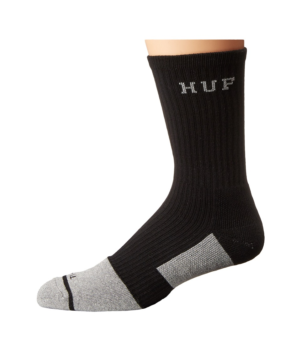 HUF - Apex Crew Sock (Black 1) Crew Cut Socks Shoes