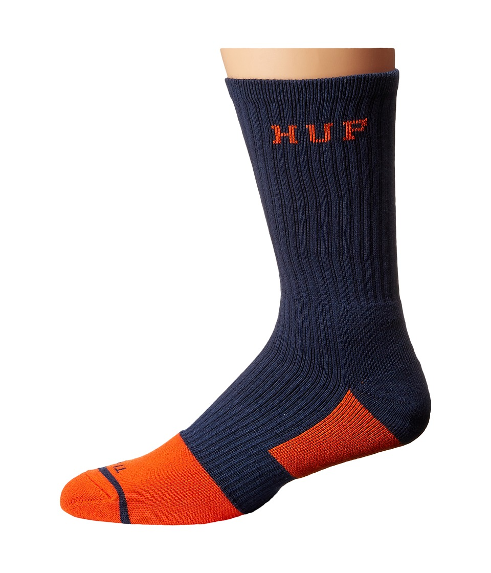 HUF - Apex Crew Sock (Navy 1) Crew Cut Socks Shoes