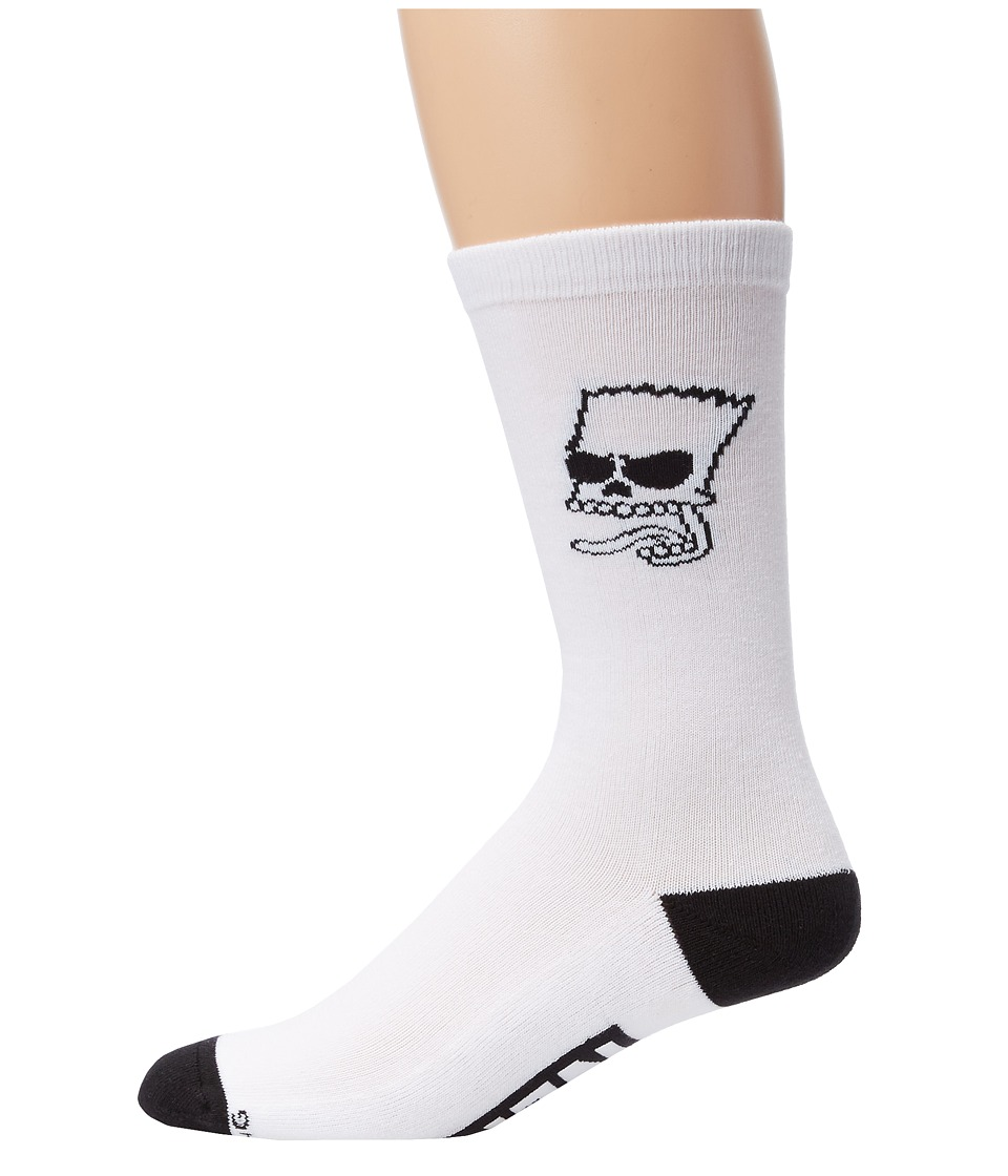 Neff - Trouble Socks (Little Kid/Big Kid) (White) Men's Crew Cut Socks Shoes